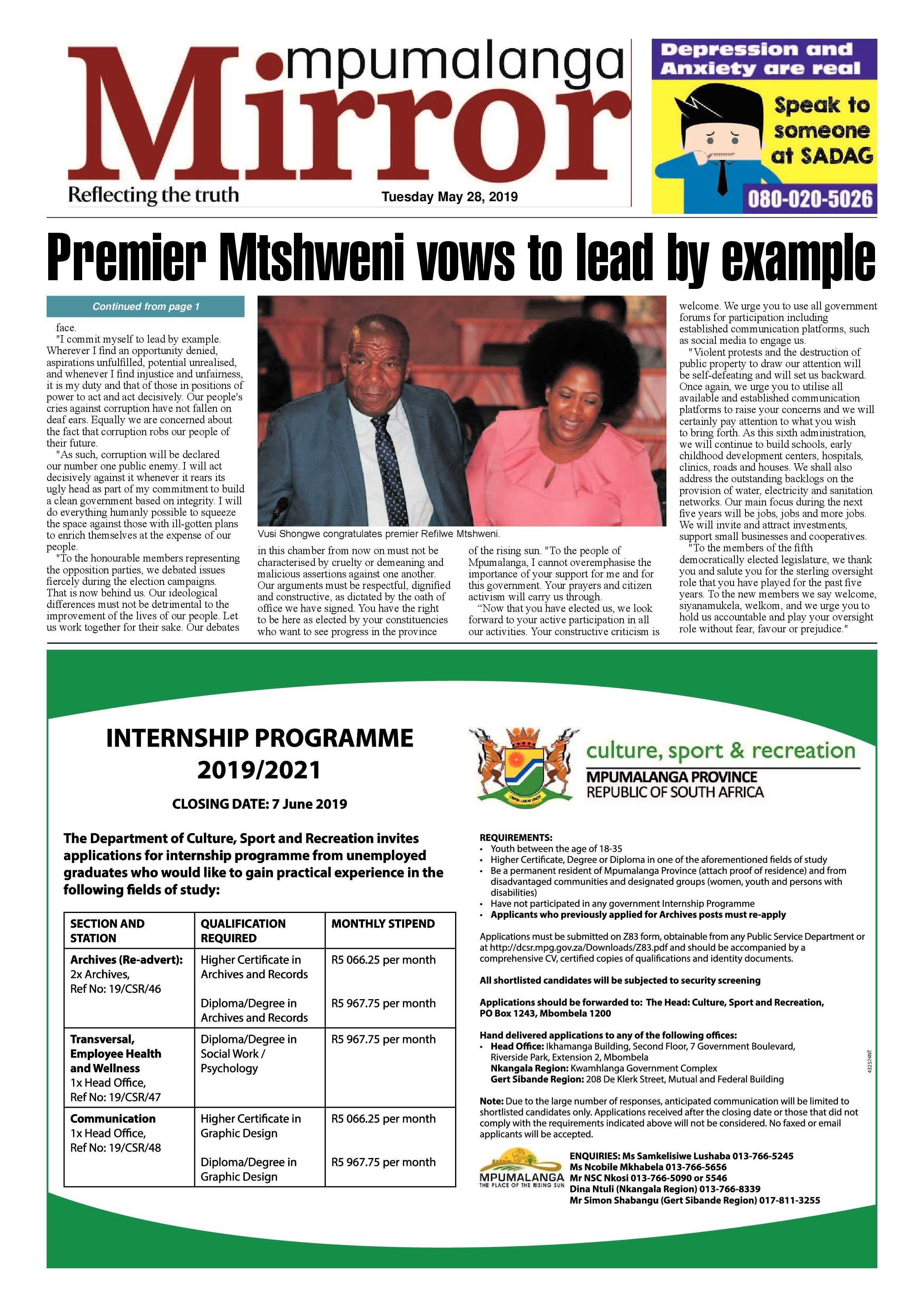MP Mirror May Edition 2019 | Mpumalanga News